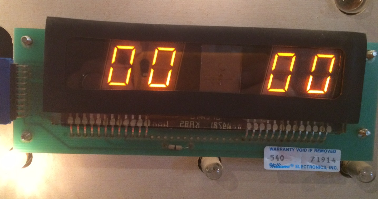 4DigitDisplay0253 - Williams 4-digit display board