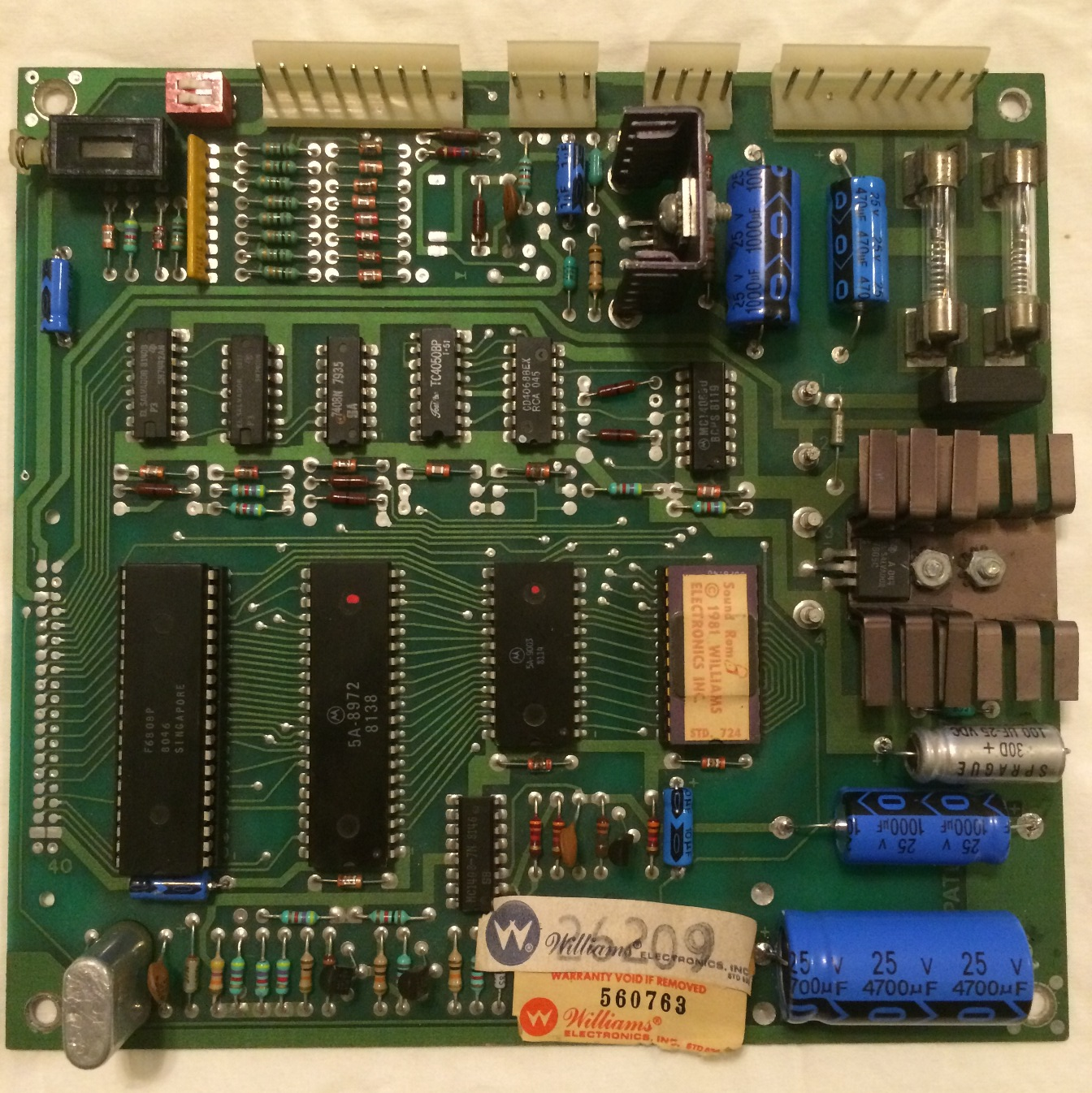 WMS6-7-Sound - Williams Type 2 Sound board
